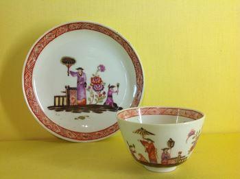 A rare Zurich tea bowl and saucer