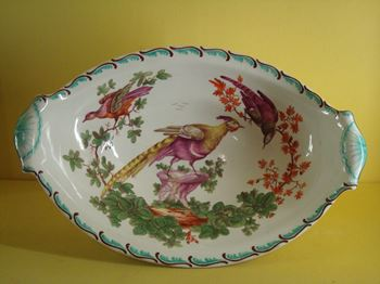 A very unusual Coalport centre dish